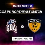 Goa vs Northeast