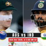 AUS vs IND 2nd Test Match