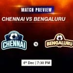 Chennai vs Bengaluru Football