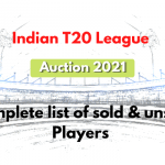 Indian T20 League 2021: Complete players list of sold, unsold.