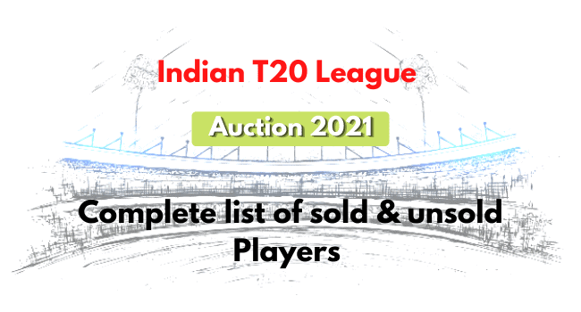 Indian T20 League 2021: Auction updates: Complete list of sold & unsold Players