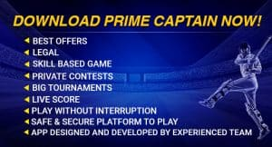 Download prime captain fantasy sports app with best offers