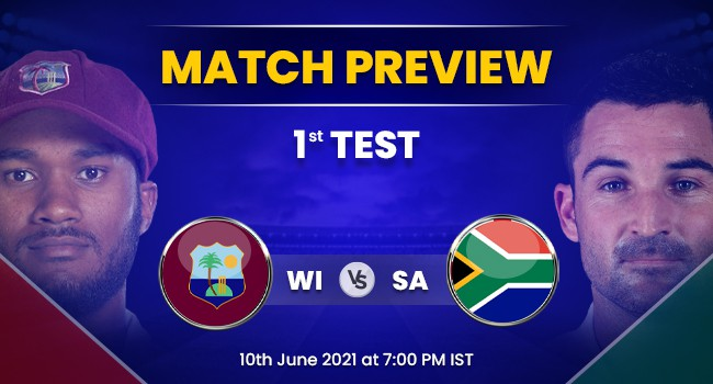 WI vs SA 1st Test: West Indies vs South Africa Match Preview