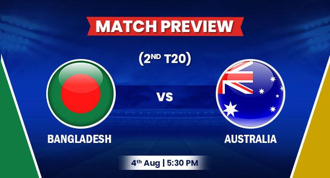 Bangladesh vs. Australia 2nd T20I