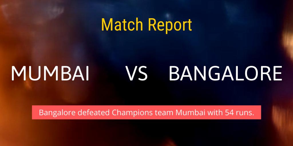 mumbai vs bangalore indian t20 league